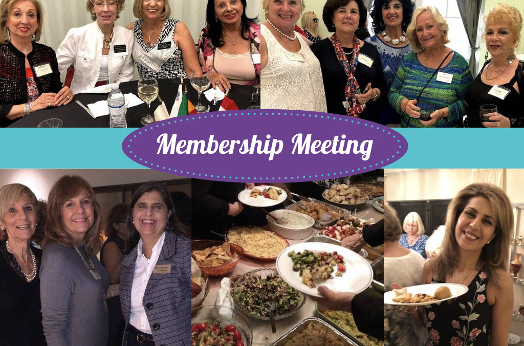Membership Meeting and International Potluck Dinner